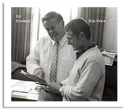 Bob Ware and Ed Eveland discuss business