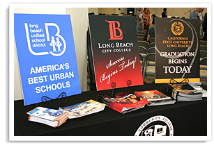 Information about college displayed on table