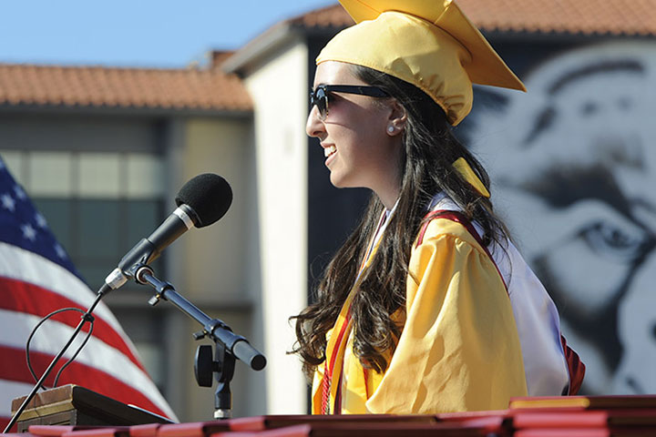 Wilson valedictorian speaks at graduation