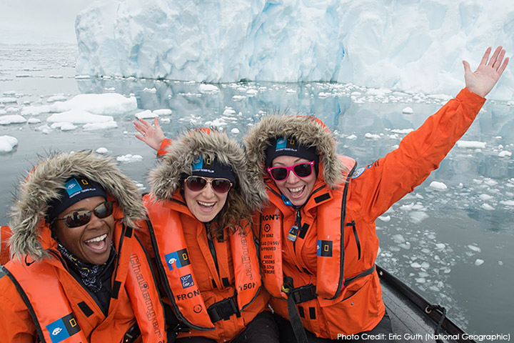 Kelly and colleagues encounter an iceberg