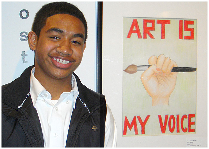 Photo - Hoover Student Wins 1st in Art Contest