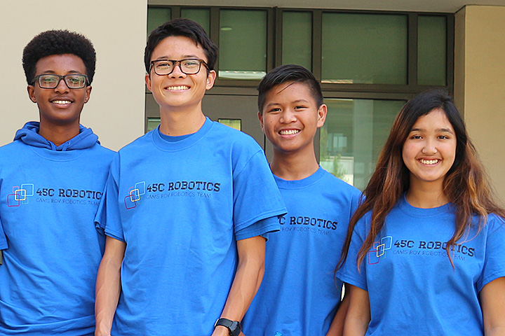 Four students from the California Academy of Mathematics and Science
