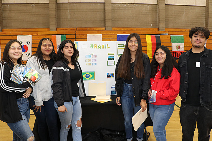 The Brazil Team at Cabrillo High's Economic Summit Event