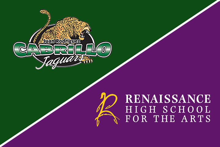 Cabrillo and Renaissance high school logos