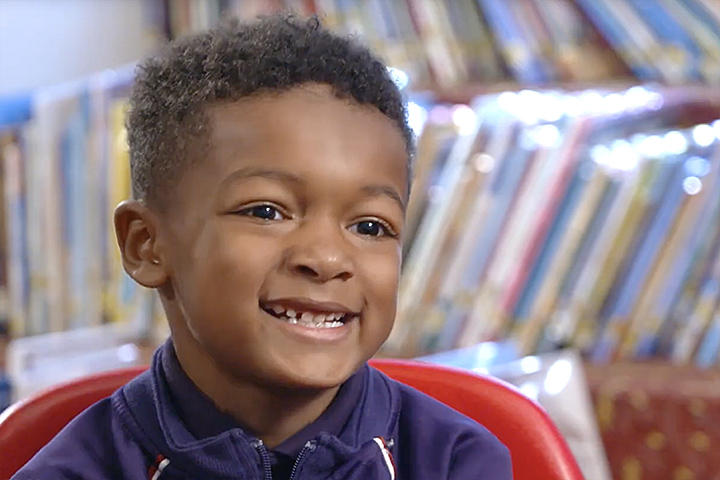 King Elementary student Mikal