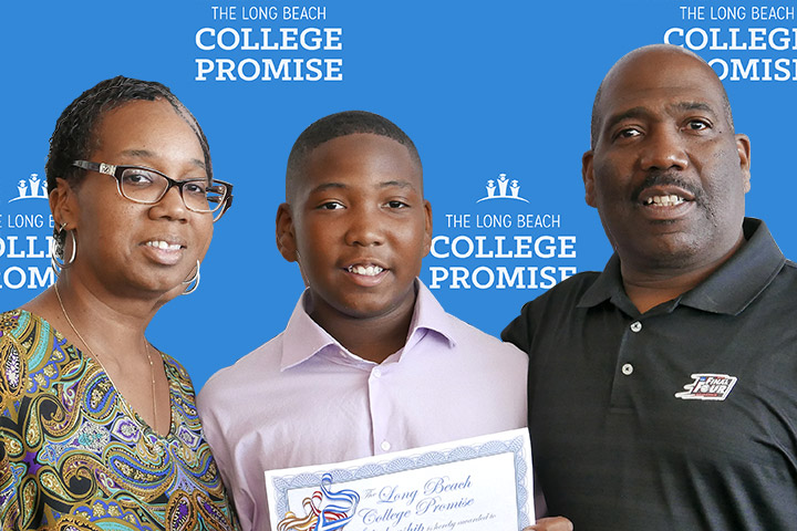 Image of Jewell Williams, Michael Williams, Jr. and Michael Williams, Sr.