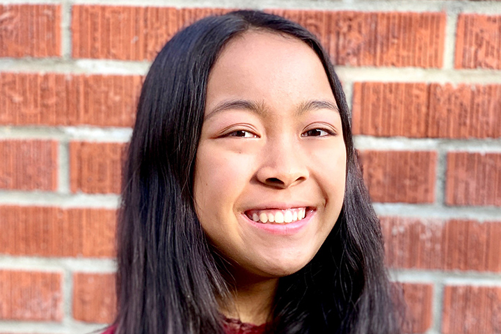 Stanford Middle School student Dina Miranda