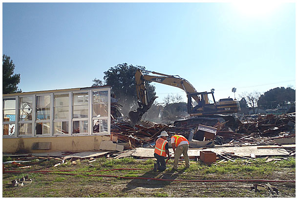 Photo - Demolition Under Way at DeMille