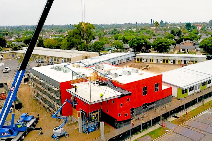 Construction on Educare building