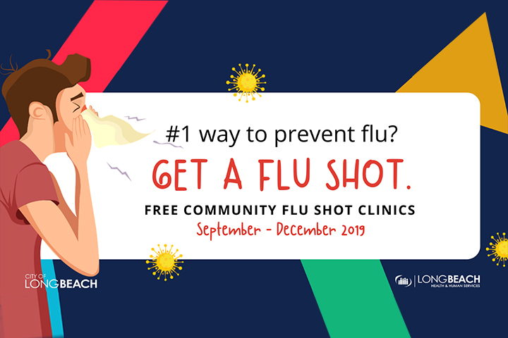 Flu shot clinic flier graphic