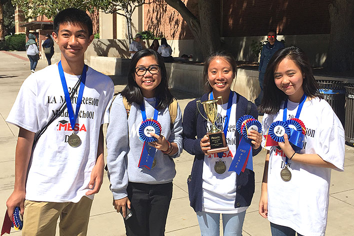 Photo - Students Collect MESA Awards
