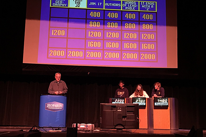 Millikan students participate in the school's recent Jeopardy contest.