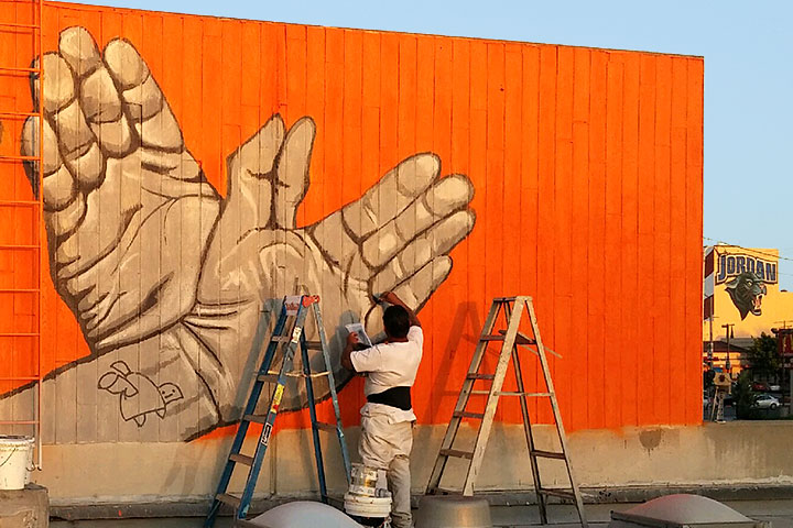 Photo - Jordan Plus Creates Public Mural