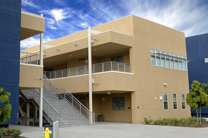 New Jordan High School building.