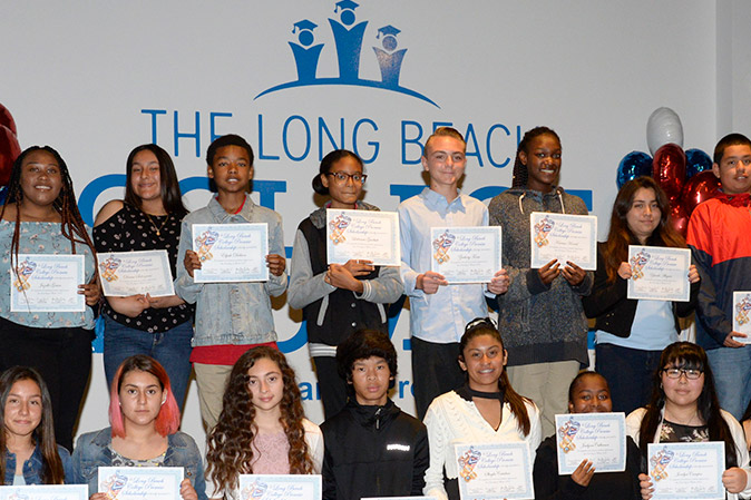 Students celebrate the Long Beach College Promise