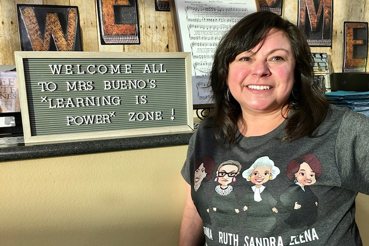 Jordan High School teacher Linda Bueno