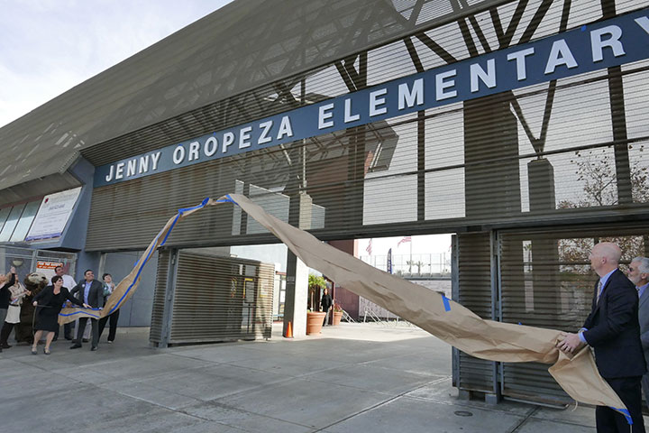Entrance way of Oropeza Elementary school
