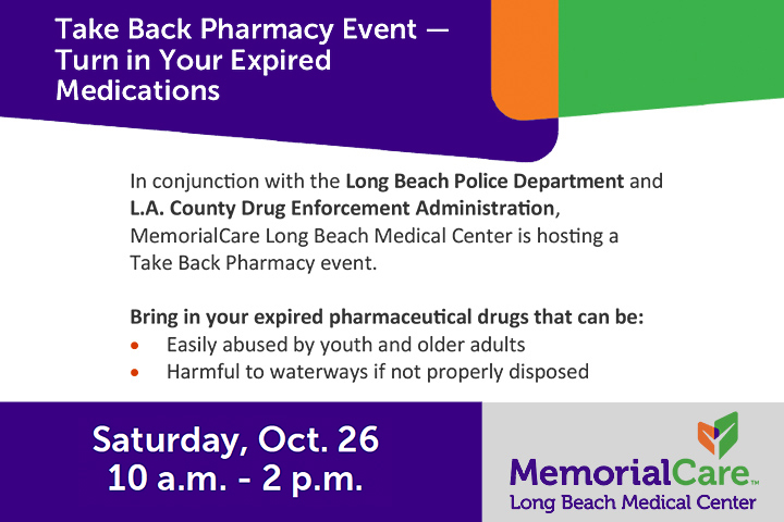 Take Back Pharmacy Event Flier Graphic