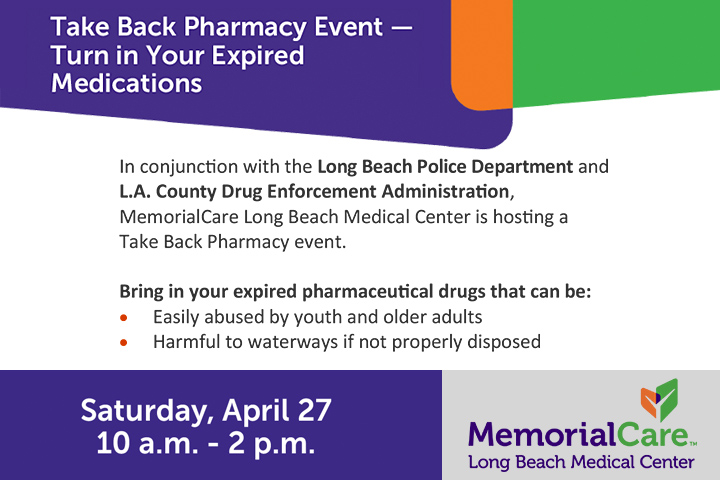 Take-Back Pharmacy Event Flier Graphic