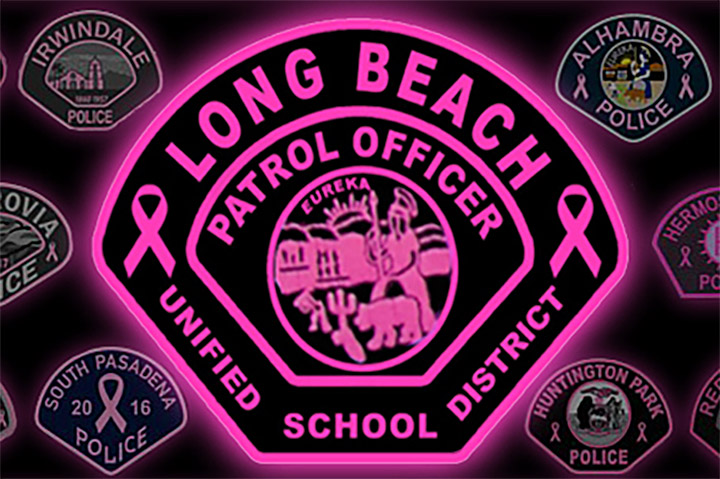 Image of Pink Patch worn by School Safety officers