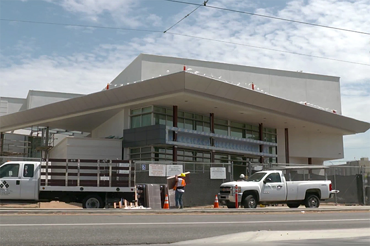 The new performing arts center at Renaissance High School for the Arts