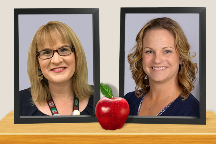 Teachers Kari Milton and Stephanie Heilig