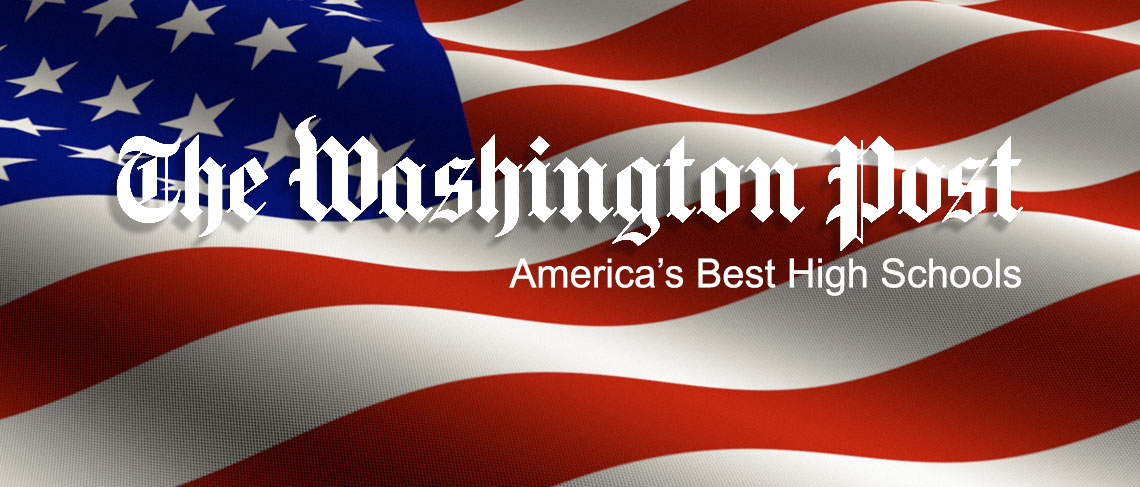 American flag with the Washington Post logo superimposed on top.
