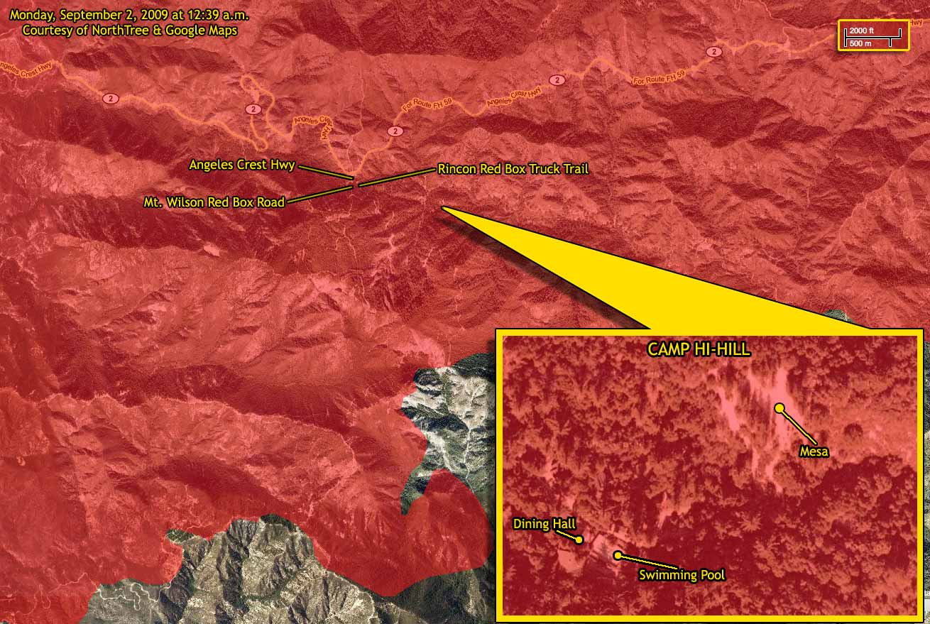Photo - Revised Map Shows Hi-Hill Burned