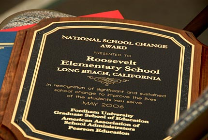 Photo - Roosevelt Elementary Accepts National School Change Award